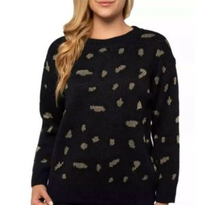 NWT Kendall + Kylie Knit Animal Print Sweater